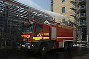 Israel, Fire fighters at a chemical factory June 26 2007
