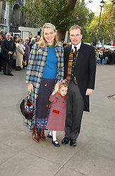 LORD & LADY DALMENY and their daughter LAVINIA at the wedding of Clementine Hambro to Orlando Fraser at St.Margarets Westminster Abbey, London on 3rd November 2006.<br />