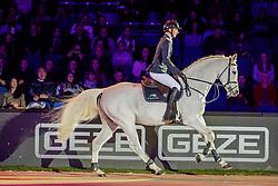 Con Spirit, DASSLER Daniel (GER)<br /> Stuttgart - German Masters 2019<br /> Ehrung/Verleihung Masterhengst 2019<br /> Großer Showabend<br /> 13. November 2019<br /> © www.sportfotos-lafrentz.de/Stefan Lafrentz