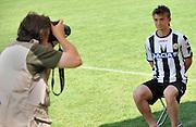 Arta Terme (UD), 27/07/2011.Campionato di calcio Serie A 2011/2012.Sergio Piccoli Neuton posa con la nuova maglia per il fotografo delle Figurine Panini..© foto di Simone Ferraro