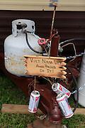 """beer cans, """"Vietnam Vet and proud of it"""" Kokomo Indiana Vietnam Veterans Reunion 2012"""