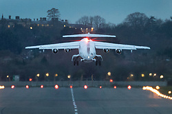 © Licensed to London News Pictures. 11/03/2019. London, UK. Prime Minister Theresa May's plane takes off from RAF Northolt where, it is thought, she is heading to Strasbourg for last minute talks with EU leaders ahead of tomorrow's crucial Brexit withdrawal vote in Parliament. Photo credit: Peter Macdiarmid/LNP