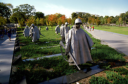 DC: Washington, DC Monuments, Korean War Veterans Memorial        .Photo Copyright Lee Foster, lee@fostertravel.com, www.fostertravel.com, (510) 549-2202.Image washdc217