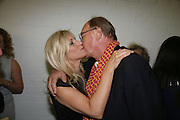 Amanda  Wilkinson and Nicholas Logsdail.  Opening of new  Wilkinson gallery. Vyner St. London. E2. Party afterwards at Bistrotheque. 6 September 2007. -DO NOT ARCHIVE-© Copyright Photograph by Dafydd Jones. 248 Clapham Rd. London SW9 0PZ. Tel 0207 820 0771. www.dafjones.com.