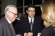 Alexander Chancellor and David Remnick. party for Anthony Lane's book hosted  given by David Remnick, editor of the New Yorker. River Cafe. 12 November 2002.  © Copyright Photograph by Dafydd Jones 66 Stockwell Park Rd. London SW9 0DA Tel 020 7733 0108 www.dafjones.com