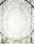open semi transparent envelopes on lace fabric