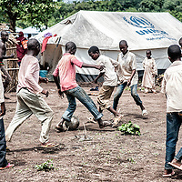 29/05/2014. Cameroon. Lolo refugees´site.  Children start playing again after weeks or months of a terrible journey in the bush to escape violence in CAR. ©WFP/Sylvain Cherkaoui