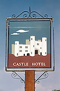 Pub Signs, The Castle Hotel, Tunbridge Wells, Kent, Britain
