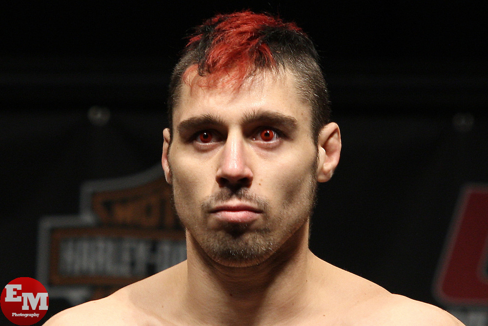 Mar 26, 2010; Newark, NJ, USA; Dan Hardy before weighing in for his upcoming bout against George St. Pierre at UFC 111 at the Prudential Center in Newark, NJ.