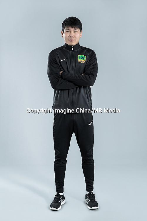 Portrait of Chinese soccer player Jiang Liang of Guizhou Hengfeng Zhicheng F.C. for the 2017 Chinese Football Association Super League, in Guiyang city, southwest China's Guizhou province, 23 February 2017.