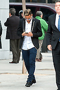 MADRID, SPAIN, 2015, FEBRUARY 02 <br /> <br /> Football star Neymar in National Court<br /> <br /> Neymar Junior came shortly before five in the afternoon of Tuesday, February 2 at the National Court in Madrid to testify before the court in relation to the prosecution of offense's of fraud in relation to alleged irregularities in the signing of Brazilian FC Barcelona. Neymar appeared with his father Senior Neymar Da Silva, dressed casually and with a calm appearance, true to his usual upbeat mood. <br /> ©Exclusivepix Media