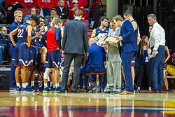 NORMAL, IL - November 06:  Bruins huddle up during a college basketball game between the ISU Redbirds and the Belmont Bruins on November 06 2019 at Redbird Arena in Normal, IL. (Photo by Alan Look)