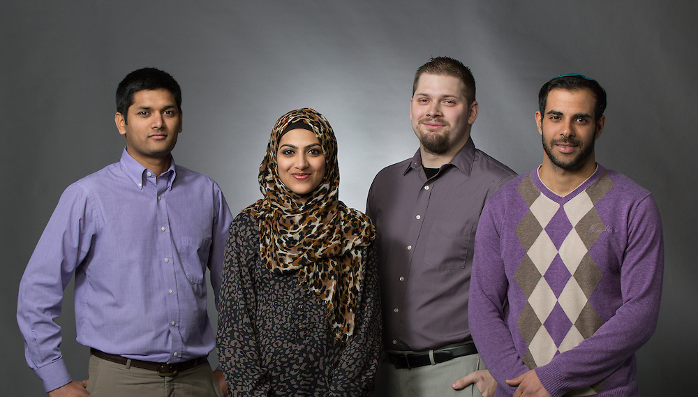 From left; Shiv Yadav, Saba Uddin, Adam Cook, and Guy Shabtay