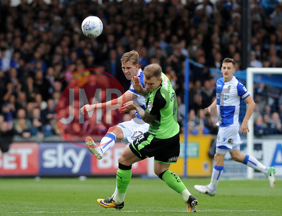 Joe Partington of Bristol Rovers clears the ball upfield - Mandatory by-line: Neil Brookman/JMP - 30/09/2017 - FOOTBALL - Memorial Stadium - Bristol, England - Bristol Rovers v Plymouth Argyle - Sky Bet League One