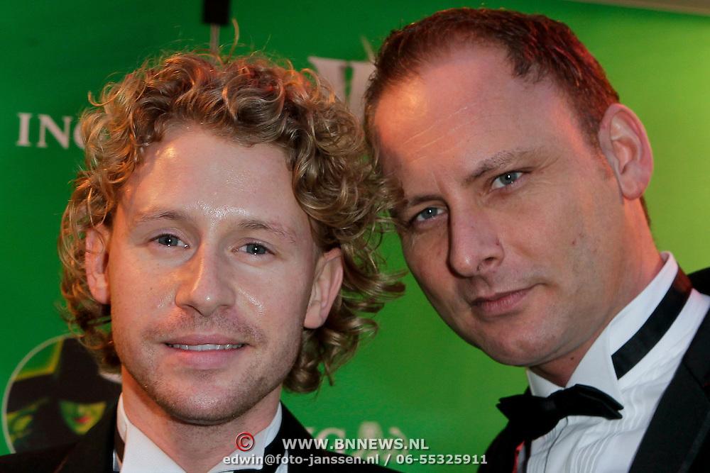 NLD/Scheveningen/20111106 - Premiere musical Wicked, Ewout Genemans en Marcel Kuier