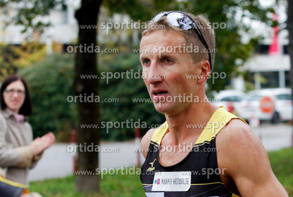 Anton Kosmac compete during 21km and 42km run at 19th Ljubljana Marathon 2014 on October 26, 2014 in Ljubljana, Slovenia. Photo by Vid Ponikvar / Sportida.com