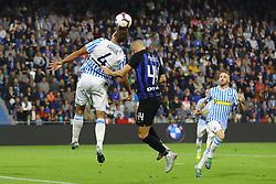 """Foto Filippo Rubin<br /> 07/10/2018 Ferrara (Italia)<br /> Sport Calcio<br /> Spal - Inter - Campionato di calcio Serie A 2018/2019 - Stadio """"Paolo Mazza""""<br /> Nella foto: THIAGO CIONEK (SPAL)<br /> <br /> Photo Filippo Rubin<br /> October 07, 2018 Ferrara (Italy)<br /> Sport Soccer<br /> Spal vs Inter - Italian Football Championship League A 2018/2019 - """"Paolo Mazza"""" Stadium <br /> In the pic: THIAGO CIONEK (SPAL)"""