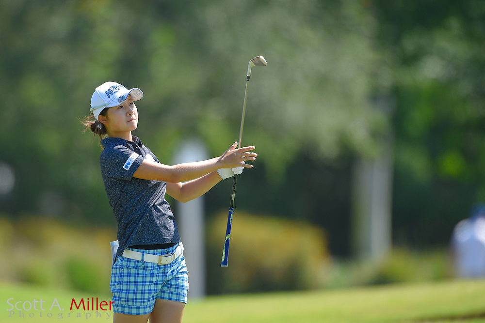 Haruka Morita-WanyaoLu during the final round of the Chico's Patty Berg Memorial on April 19, 2015 in Fort Myers, Florida. The tournament feature golfers from both the Symetra and Legends Tours.<br /> <br /> &copy;2015 Scott A. Miller