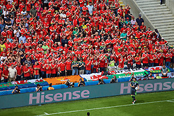 LENS, FRANCE - Thursday, June 16, 2016: Wales supporters before the UEFA Euro 2016 Championship Group B match against England at the Stade Bollaert-Delelis. (Pic by Paul Greenwood/Propaganda)