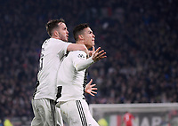 FUSSBALL CHAMPIONS LEAGUE SAISON 2018/2019 ACHTELFINAL RUECKSPIEL Juventus Turin - Atletico Madrid        12.03.2019 JUBEL Juventus Turin; dreifacher Torschuetze Cristiano Ronaldo (re) und Miralem Pjanic