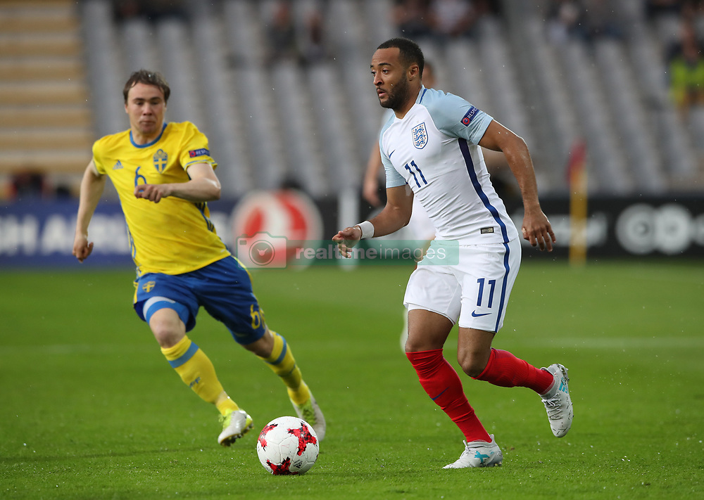 England's Nathan Redmond during the UEFA European Under-21 Championship, Group A match at the Kolporter Arena, Kielce.