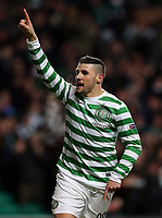 Football - 2012 / 2013 Champions League - Group G: Celtic vs. Spartak Moscow<br /> <br /> Colorsport<br /> <br /> Gary Hooper of Celtic celebrates after he scores during the Champions League Group G match between  Celtic vs. Spartak Moscow at Celtic Park, Glasgow<br /> <br /> 6th December 2012