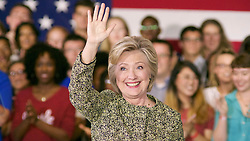Democratic Presidential Candidate Hillary Clinton addresses Millennials at Temple University's Mitten Hall, on Monday.(Bastiaan Slabbers for NewsWorks)