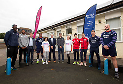 Bristol Sport and Bristol Energy launch their partnership at Millpond School with the help for Ian Madigan, Joe Latta and Siale Piutau of Bristol Rugby, Daniel Edozie and Rhondell Goodwin of Bristol Flyers and Jas Matthews and Yana Daniels of Bristol City Women - Mandatory by-line: Robbie Stephenson/JMP - 09/10/2017 - SPORT - Millpond School - Bristol, England - Bristol Sport and Bristol Energy Partnership Launch