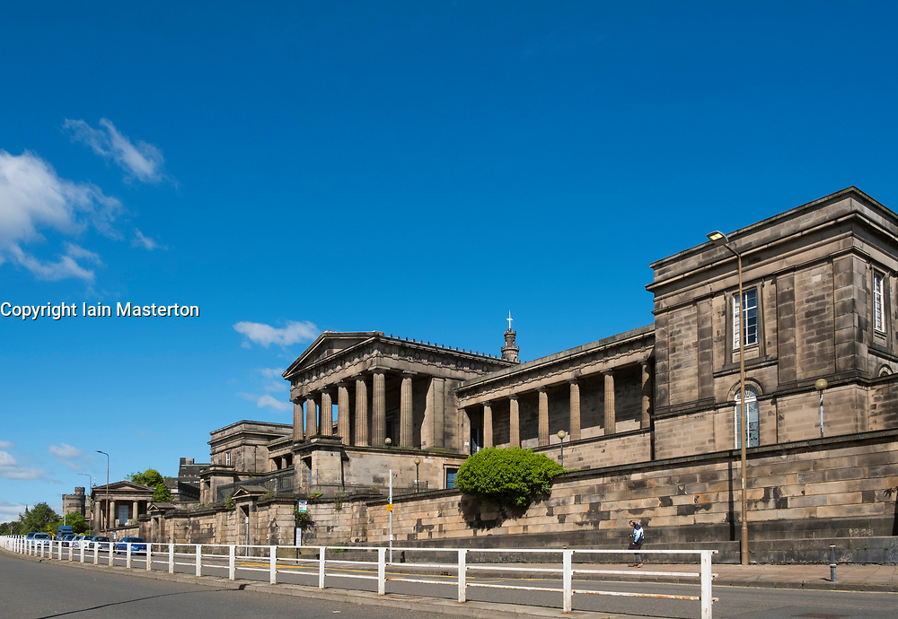 Former Royal High School at Calton Hill in Edinburgh, Scotland, united Kingdom.