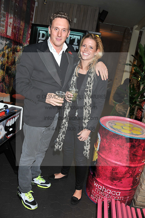 SCARLETT GUESS and HARRY BECHER at a Mexican Feast cooked by Thomasina Miers in aid of the charity Too Many Women held at Wahaca Soho, 80 Wardour Street, London on 9th November 2011.