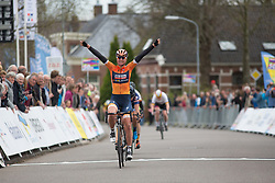 Chantal Blaak (NED) of Boels-Dolmans Cycling Team wins Stage 4 of the Healthy Ageing Tour - a 126.6 km road race, starting and finishing in Finsterwolde on April 8, 2017, in Groeningen, Netherlands.