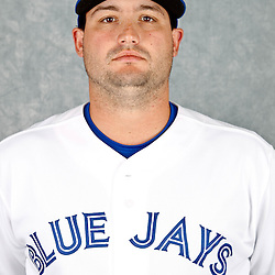 March 2, 2012; Dunedin, FL, USA; Toronto Blue Jays relief pitcher Chad Beck (58) poses for a portrait during photo day at Florida Auto Exchange Stadium.  Mandatory Credit: Derick E. Hingle-US PRESSWIRE