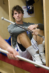 18 May 2008: Duke Blue Devils midfielder James Goldberg (18) before a 21-10 win over the Ohio State Buckeyes during the NCAA quarterfinals held at Cornell University in Ithaca, NY.