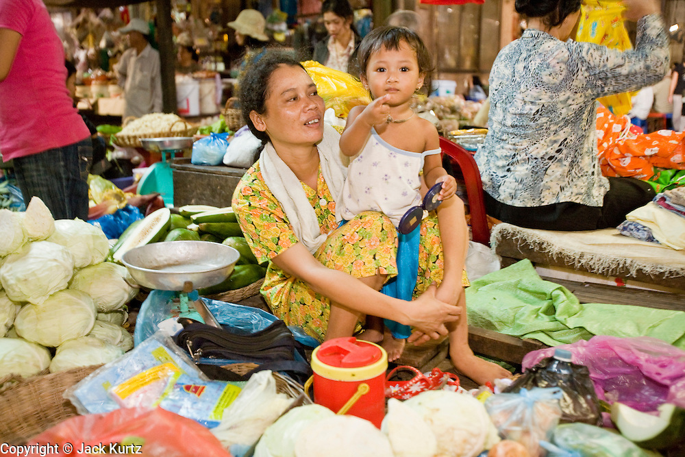 26 JUNE 2006 - SIEM REAP, CAMBODIA: The main market in Siem Reap, Cambodia, site of the world famous Angkor Wat. Photo by Jack Kurtz / ZUMA Press