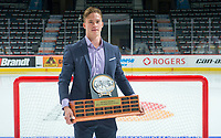 REGINA, SK - MAY 26: Top Draft Prospect Andrei Svechnikov of the Barrie Colts at the Brandt Centre on May 26, 2018 in Regina, Canada. (Photo by Marissa Baecker/CHL Images)
