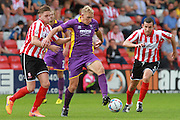 Danny Wright during the Vanarama National League match between Lincoln City and Cheltenham Town at Sincil Bank, Lincoln, United Kingdom on 8 August 2015. Photo by Antony Thompson.