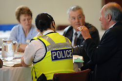 Police meet community members at an information roadshow, Bradford