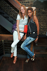 Left to right, OLIVIA INGE and TOLULA ADEYEMI at a party and screening of Jonathan Kelsey & Sara Dunlop's short film 'High' held at Soho House, Old Compton Street, London on 15th July 2009.