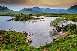 Storm clouds gather over Lochan na h -Achlaise on Rannoch Moor, Highlands of Scotland<br /> <br /> (c) Andrew Wilson | Edinburgh Elite media