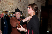 JOHN HURT; CLARE BOYD, The launch party of HiBrow and A Mighty Big If. ÊThe Crypt. St. Martins in the Fields. London. 24 January 2012<br /> JOHN HURT; CLARE BOYD, The launch party of HiBrow and A Mighty Big If.  The Crypt. St. Martins in the Fields. London. 24 January 2012