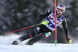 06.01.2014, Stelvio, Bormio, ITA, FIS Weltcup Ski Alpin, Bormio, Slalom, Herren, im Bild Manfred Moelgg // Manfred Moelgg  in action during mens Slalom of the Bormio FIS Ski World Cup at the Stelvio in Bormio, Italy on 2014/01/06. EXPA Pictures © 2014, PhotoCredit: EXPA/ Sammy Minkoff<br /> <br /> *****ATTENTION - OUT of GER*****