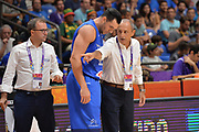 Christian Burns, Ettore Messina<br /> Nazionale Italiana Maschile Senior<br /> Eurobasket 2017 - Group Phase<br /> Ukraina - Italia<br /> FIP 2017<br /> Tel Aviv, 02/09/2017<br /> Foto Ciamillo - Castoria/ M.Longo