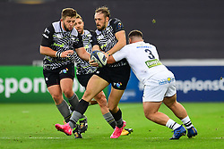 Ospreys' Cory Allen in action Clermont Auvergne's Rabah Slimani - Mandatory by-line: Craig Thomas/JMP - 15/10/2017 - RUGBY - Liberty Stadium - Swansea, Wales - Ospreys Rugby v Clermont Auvergne - European Rugby Champions Cup
