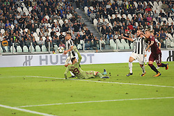 September 23, 2017 - Turin, Piedmont, Italy - Paulo Dybala of Juventus FC scores his second goal during the Serie A football match between Juventus FC and Torino FC at Allianz Stadium on 23 September, 2017 in Turin, Italy. ..Juventus FC won 4-0 over Torino FC. (Credit Image: © Massimiliano Ferraro/NurPhoto via ZUMA Press)