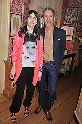 Left to right, TANIA FARES and PATRICK COX at a lunch to celebrate the the Lulu & Co Autumn/Winter 2011 collection held at Harry's Bar, 26 South Audley Street, London W1 on 21st June 2011.
