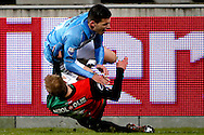 Onderwerp/Subject: NEC - VVV Venlo - Eredivisie<br /> Reklame:  <br /> Club/Team/Country: <br /> Seizoen/Season: 2012/2013<br /> FOTO/PHOTO: Nathaniel WILL (BELOW) of NEC tackles Brian LINSSEN (TOP) of VVV Venlo and receives a red card thereafter. (Photo by PICS UNITED)<br /> <br /> Trefwoorden/Keywords: <br /> #04 #05 $94 ±1355229055132<br /> Photo- & Copyrights © PICS UNITED <br /> P.O. Box 7164 - 5605 BE  EINDHOVEN (THE NETHERLANDS) <br /> Phone +31 (0)40 296 28 00 <br /> Fax +31 (0) 40 248 47 43 <br /> http://www.pics-united.com <br /> e-mail : sales@pics-united.com (If you would like to raise any issues regarding any aspects of products / service of PICS UNITED) or <br /> e-mail : sales@pics-united.com   <br /> <br /> ATTENTIE: <br /> Publicatie ook bij aanbieding door derden is slechts toegestaan na verkregen toestemming van Pics United. <br /> VOLLEDIGE NAAMSVERMELDING IS VERPLICHT! (© PICS UNITED/Naam Fotograaf, zie veld 4 van de bestandsinfo 'credits') <br /> ATTENTION:  <br /> © Pics United. Reproduction/publication of this photo by any parties is only permitted after authorisation is sought and obtained from  PICS UNITED- THE NETHERLANDS