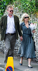 Mariella Forstrup attending the funeral of  Peaches Geldof.<br /> Friends and family arrive at St Mary Magdalene and St Lawrence church in the village of Davington, Kent, to the funeral of Peaches Geldof.<br /> Monday, 21st April 2014. Picture by i-Images