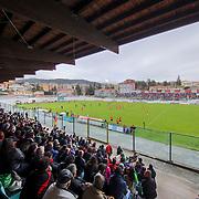 L'Aquila 14/04/2018 Stadio Tommaso Fattori<br /> Guinness PRO14 <br /> Zebre vs Newport Dragons<br />  una panoramica dello stadio Fattori con oltre 5800 spettatori
