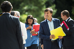 French Minister for the Ecological and Inclusive Transition Nicolas Hulot arrives to attend a biodiversity conference at Museum national d'Histoire naturelle in Paris on July 4, 2018. Photo by Eliot Blondet/ABACAPRESS.COM