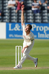 Kyle Jarvis bowls for Lancashire Cricket - Photo mandatory by-line: Dougie Allward/JMP - Mobile: 07966 386802 - 07/06/2015 - SPORT - Football - Bristol - County Ground - Gloucestershire Cricket v Lancashire Cricket - LV= County Championship